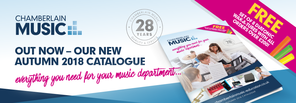The Autumn 2018 Chamberlain Music catalogue is out now!