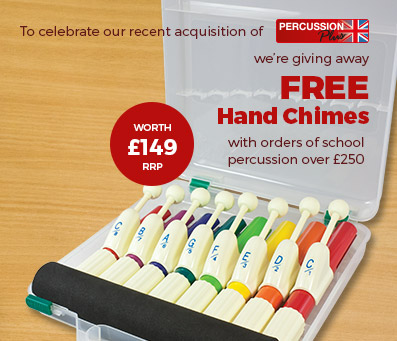 Free hand chimes with orders of school percussion over £250