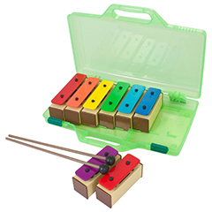 Percussion Workshop KB10 coloured chime bars supplied beaters & case