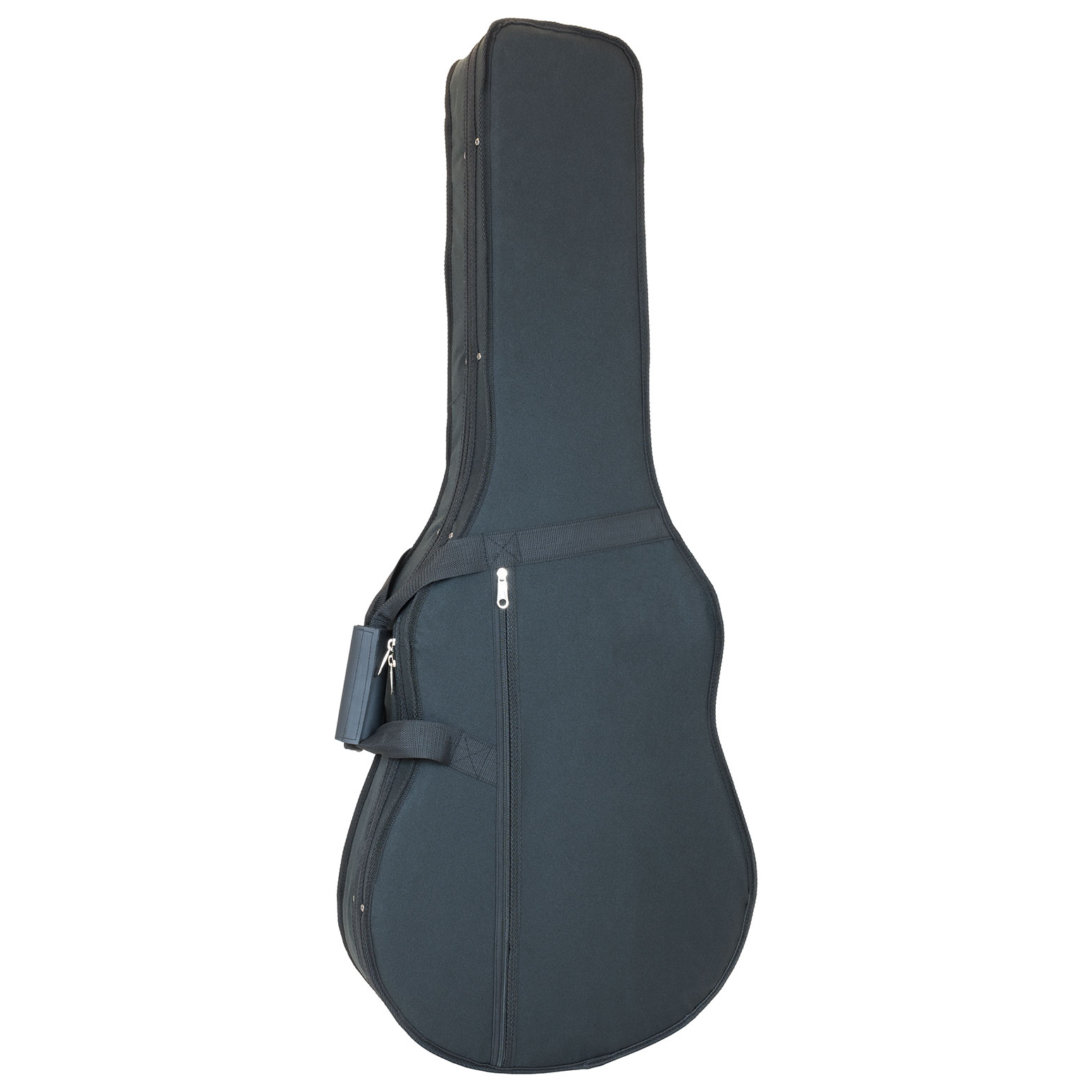 Classical guitar 4/4 gig case with moulded interior in black