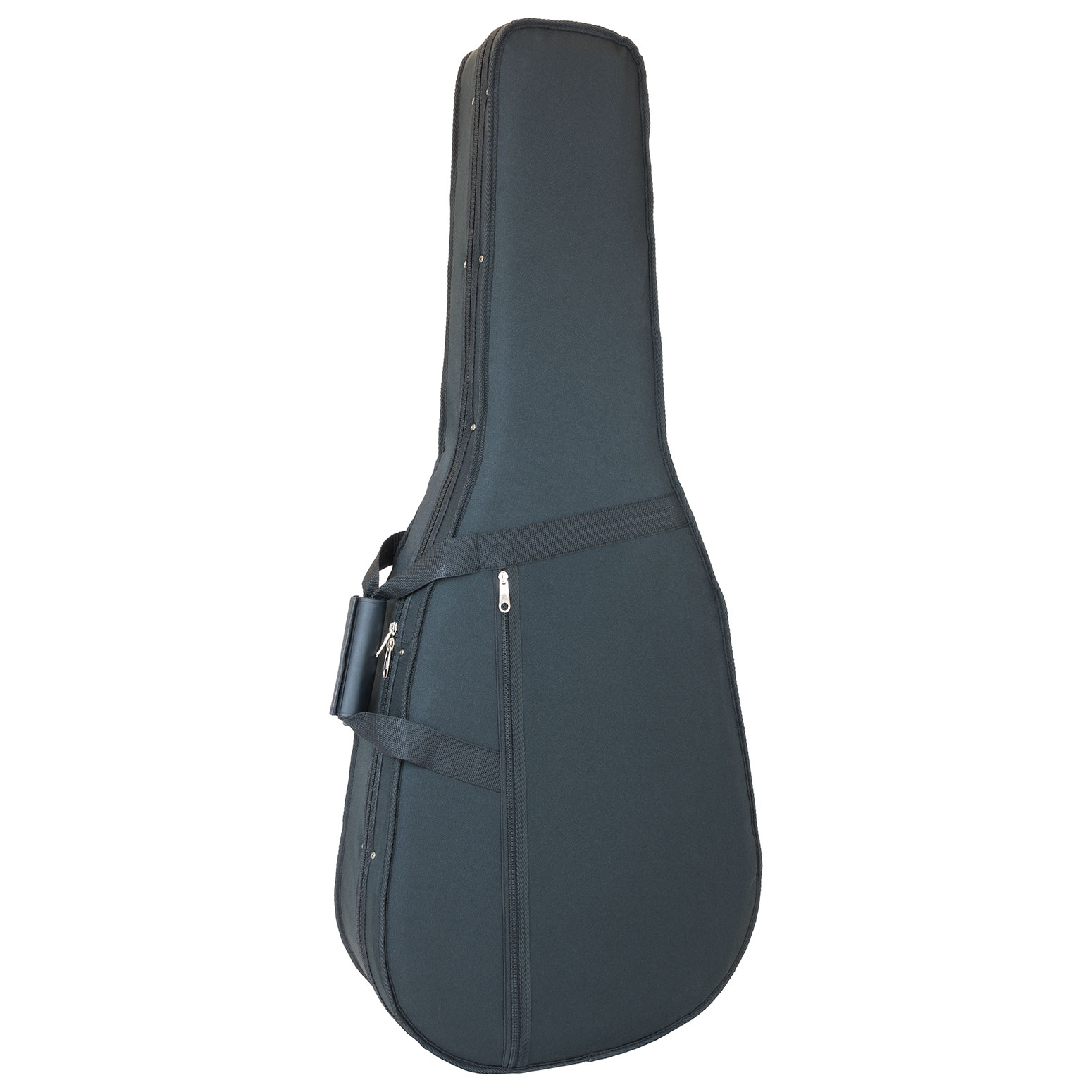 Acoustic guitar gig bag with moulded interior in black
