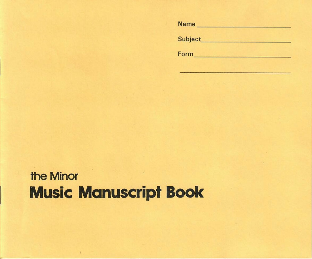 The Minor Music Manuscript Book 20 Pack
