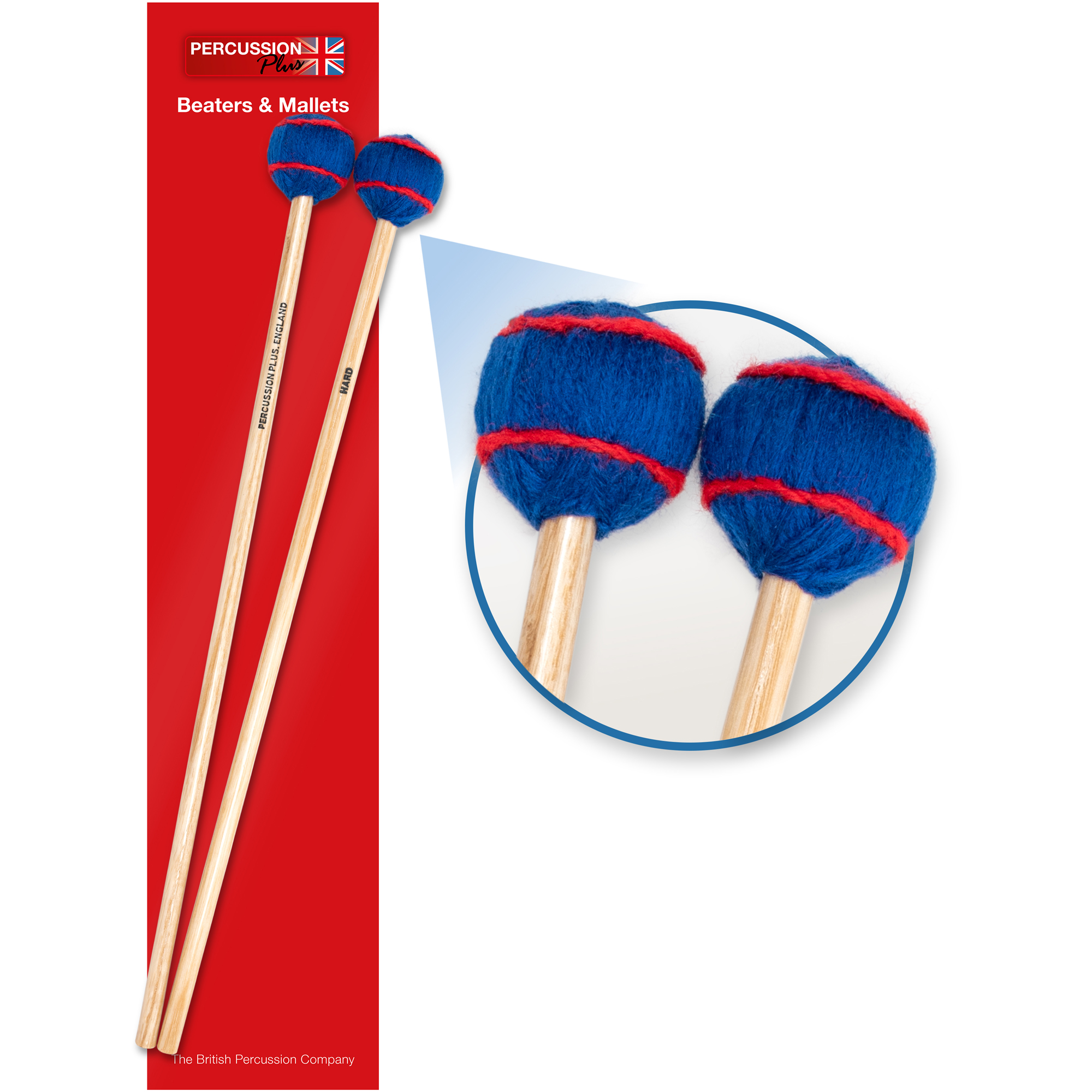 Percussion Plus pair of wool mallets - hard