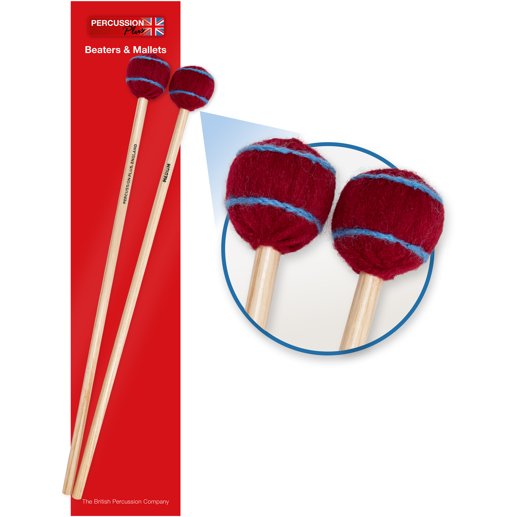 Percussion Plus pair of wool mallets - medium