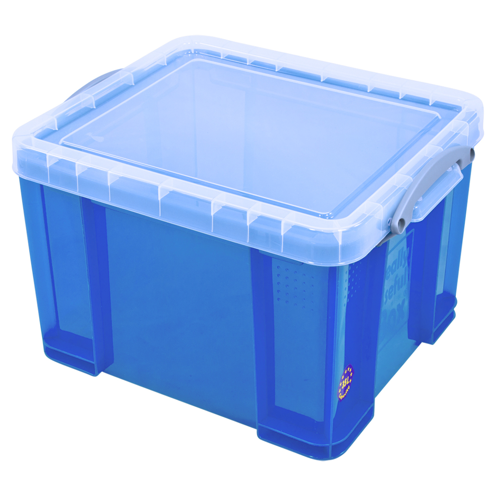Really Useful 35 litre storage box in transparent blue  sc 1 st  Chamberlain Music Education & Really Useful Group RUB35-TBL | Really Useful 35 litre storage box ...