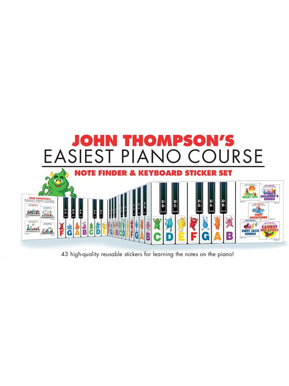Note Finder & Keyboard Sticker Set John Thompson's Easiest Piano Course